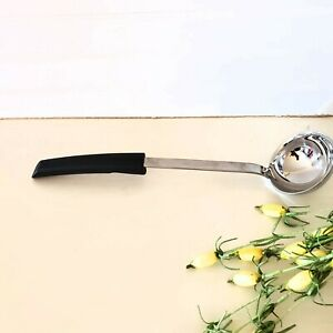 Hooked Handle 1.4-Ounce R/ösle Stainless Steel Portioning Ladle with Pouring Rim