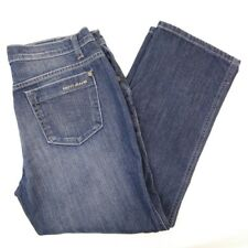 DKNY So-Low-Lita Womens Size 8 Tapered Leg Mid Rise Blue Jeans Capris 30 x 24