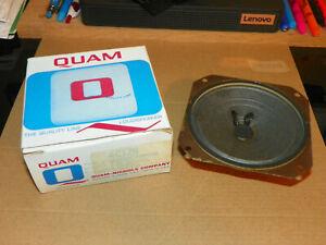 """NOS Vtg QUAM Speaker 4C1Z8 4"""" round General Purpose 8-10 Ohms Original Box"""