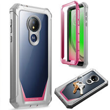 For Moto G7 Power 2019 Case [Scratch Resistant Back] Shockproof Cover Pink