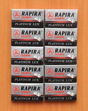 50 NEW PLATINUM LUX RAPIRA DOUBLE EDGE SAFETY RAZOR BLADES