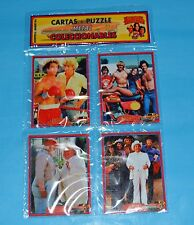 THE DUKES OF HAZZARD TV SERIE SET 4 METAL CARD w/PUZZLE ARGENTINA