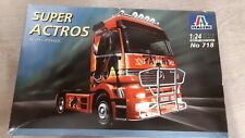 ITALERI 1/24 Mercedes-Benz Super Actros 1857 truck model kit Bausatz 718