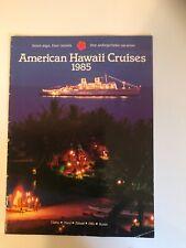 American Hawaii Cruises ss Independence 1985 Brochure