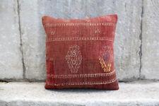 "Handmade Kilim PILLOW CUSHION COVER - Turkish Anatolian Kilim Cover 16"" x 16"""