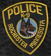 Rochester Minnesota Police K-9 K9 Shoulder Patch