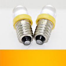 2X E10 Led Jaune Vis 12V Diode Electroluminescente Luminaire Lampe Ampoule Lampe