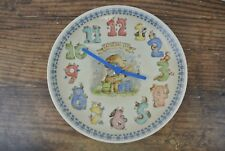 "Wedgwood ""Rambling Ted"" Battery Operated Children's Wall Clock Made In England"