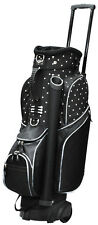 RJ Ladies Spinner Cart Bag Black Polka Dot