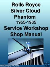 Rolls Royce Silver Cloud I, II, III, Phantom V 1955-1965 Shop SERVICE MANUALS CD