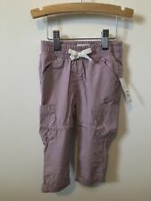 Nwt Old Navy Infant Girls Lavender 100% Cotton Cargo Sweatpants 12-18 Months
