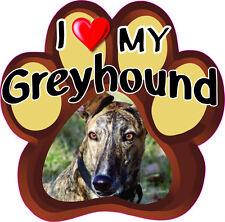 I LOVE MY GREYHOUND Cute Dog Bumper sticker PAW #211