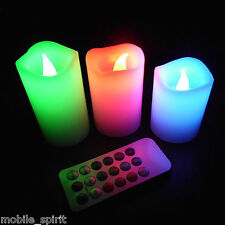 Multi Color Changing Lavender Scent LED Flameless Wax Mood Candle Romance Safety
