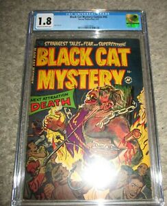Black Cat Mystery 42 CGC 1.8 LOOKS NICER Bondage/Torture 1953 Harvey #1568579006