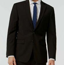 $645 Calvin Klein Men Extreme Slim X Fit Wool Sport Coat Black Jacket Blazer 40S