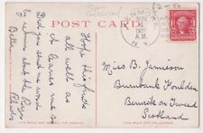 Miss B. Jamieson, Burnbank Foulden, Berwick on Tweed Cock Fighting Postcard B609
