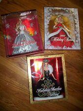 Lot 3 2007 HOLIDAY BARBIE Mrs Claus & Holiday Barbie 2008-2006 Bob MackieHoliday