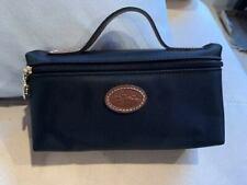 Longchamp Le Pliage  Cosmetic Case Makeup bag Nylon pouch ~NIP~ Black