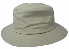 Mens Lightweight Cotton Summer Fedora Sun Hat STONE SIZE M 58CM