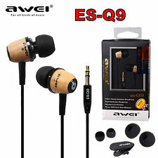 AWEI ES-Q9 Holz In-Ear Kopfhörer Ohrhörer Headphones Earphones Top