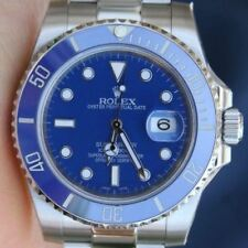 Rolex 40mm Submariner 116610 Stainless Steel Blue Ceramic Bezel 4 18k White Gold