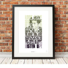 MY CHEMICAL ROMANCE ❤ Gerard Way ❤ MCR lyrics poster art prints Na Na Na #15