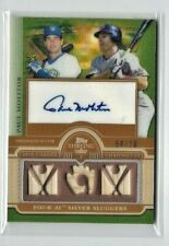 2010 Topps Sterling Paul Molitor AUTO TRIPLE BAT Relic SP #/10, Brewers - Twins!