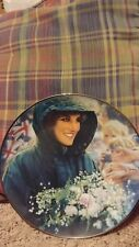 Diana The Peoples Princess  Plate The Franklin Mint Collection Queen Porcelain