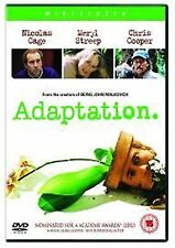 Adaptation 2003 Nicolas Cage, Meryl Streep, Chris Cooper NEW & SEALED UK R2 DVD