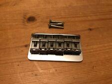 More details for 1972 fender usa vintage stratocaster strat hardtail bridge & saddles clean