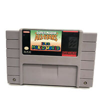 Super Mario All-Stars + Super Mario World Super Nintendo RARE SNES GAME