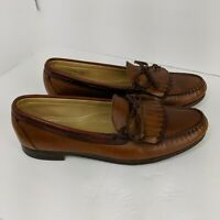 Allen Edmonds Loafers Size 13 B Shoes Brown Leather Woodstock Kiltie Slip On