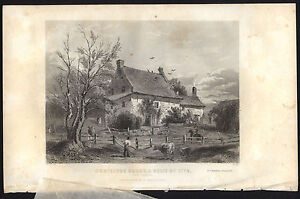Cortelyou House Brooklyn 1853 by Beckwith engraving Revolutionary War site