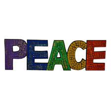 Fair Trade Rainbow Mosaic Peace Wall Plaque