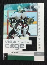 SEAN BURKE 02-03 UPPER DECK MASK VIEW FROM THE CAGE GAME WORN JERSEY COYOTES