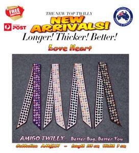 NEW AMIGO Twilly Multi-Use Mini Scarf Wrist Headband Bag Ribbon Bow Wrap BXXN