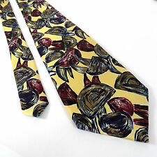 Robert Talbott Studio Tie | Leon Sugar's Yellow Made in USA Silk Necktie 59""