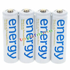 4x AA 2A 3300mAh 1.2V Ni-Mh Energy Rechargeable Battery White Cell for RC MP3