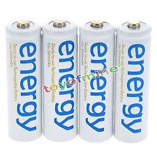 4x AA 3300mAh 2A Ni-Mh Energia batteria ricaricabile bianco Cellulare per RC MP3