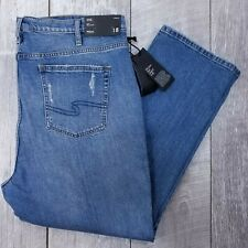 Silver Jeans Frisco Womens Plus 18 40x28 Distressed High Rise Mom Straight J319