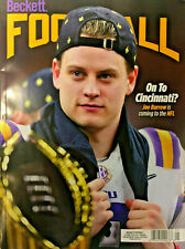 New May 2020 Beckett Football Card Price Guide Magazine With Joe Burrow