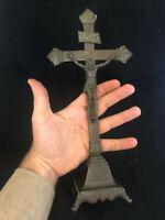 Christ Bronze XVIII ème Siècle Epoque Louis XV Antique French Crucifix 18th