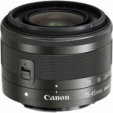 *BRAND NEW*Canon EF-M 15-45mm F3.5-6.3IS STM mirror-less lens+UV Filter