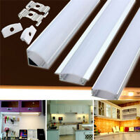 Aluminum LED Channel for LED Strip Lights U/V/YW Style Bar Cover 50cm w/End Caps