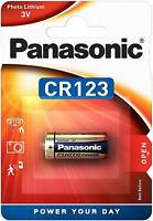 8x Panasonic Lithium Power Photo Batterie 3V CR123 1400 mAh CR-123AL