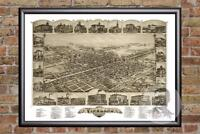 Vintage Vineland, NJ Map 1885 - Historic New Jersey Art Old Victorian Industrial