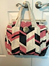 Gucci Hysteria Handbag Black Patent, Pink & White Soft Buttery Leather