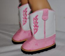 AMERICAN STYLE DOLL SHOES  FOR 18 INCH  GIRL DOLLS DRESS LOT PINK & WHITE BOOTS