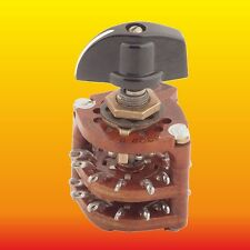 4 POLE 5 POSITIONS RUSSIAN UNSHORTING CARBOLITE ROTARY SWITCH ПМ-5П4Н+KNOB