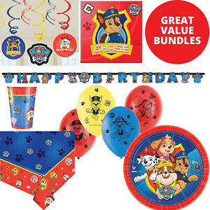 PAW PATROL Birthday Party Decorations Bundle Party Tableware Set Pack